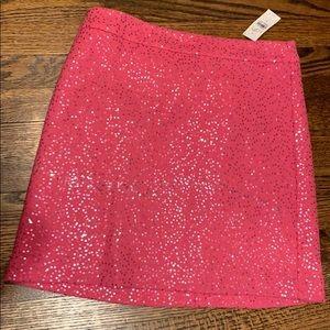 Loft pink sequin skirt